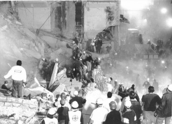 The bombing of the AMIA Jewish community center in Buenos Aires on July 18, 1994 killed 85 people. The attack remains unsolved.   (AMIA)