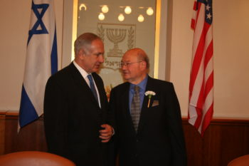 Gary Ackerman, who last week announced he would not run again for Congress, meets in 2010 with Israeli Prime Minister Benjamin Netanyahu.  (Office of Gary Ackerman)