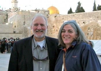 Alan and Judy Gross at the Western Wall in the spring of 2005 (Courtesy Gross Family)