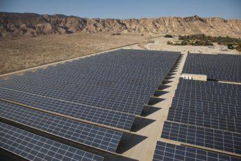 Arava Power Company's 4.9-megawatt field sits right outside of Kibbutz Ketura in Israel.  (Courtesy Arava Power Company)