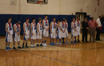 Beren Academy players and coaches receive their second-place medals after losing to Abilene Christian in the Texas 2A state final, March 3, 2012.  (Samantha Steinberg )