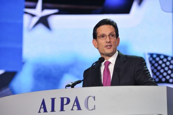 Eric Cantor, the House majority leader, has been a prime figure in negotiations to avoid the sequester, which pro-Israel advocates worry could imperil the security of the Jewish state. (Courtesy AIPAC)