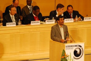Highlights from Iranian President Mahmoud Ahmadinejad's speech at the U.N. Durban II conference in Geneva, April 20, 2009. (English) (Ben Harris)