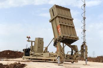 The Israeli anti-rocket defense system Iron Dome placed in the Tel Aviv area for the first time, Nov. 16, 2012.   (Alon Besson/Ministry of Defence/Flash90)