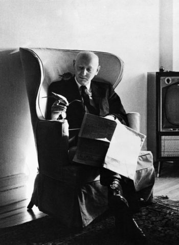 Isaac Bashevis Singer, who earned a Nobel Prize for Literature in 1978, will be among the first group chosen for the National Museum of American Jewish History's Only in America Gallery/Hall of Fame in Philadelphia. (Corbis-Bettmann)