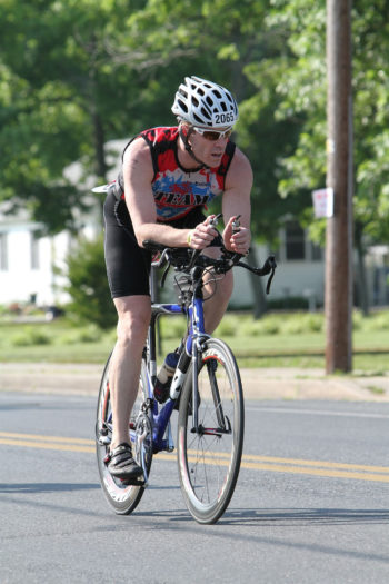 Dr. Jordan Metzl, seen here riding a bicycle.  (Courtesy of Action Sports International)