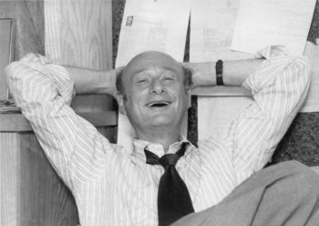 Ed Koch sitting in the office of his campaign manager, David Garth, September 1977.  (Zeitgeist Films/The New York Post)