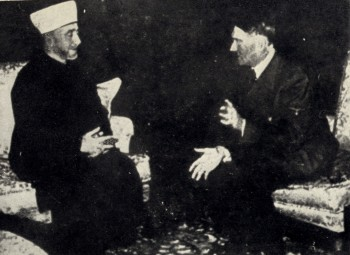 Mufti Amin el-Husseini meeting with Adolf Hitler in Berlin on Nov. 28, 1941. (The Wyman Insitute)