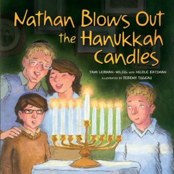 """""""Nathan Blows Out the Hanukkah Candles"""" tackles the issue of autism in families without being heavy-handed. ( Courtesy Kar-Ben)"""