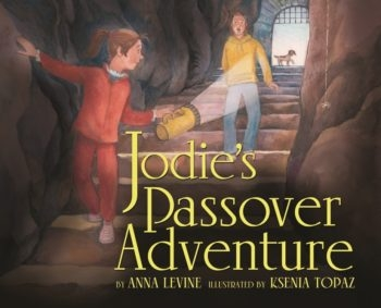 "In ""Jodie's Passover Adventure,"" Jodie and her American cousin Zach discover ancient secrets on their exploration of Hezekiah's Tunnel in the Old City of Jerusalem.  (Courtesy Kar-Ben Publishing)"