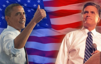 President Barack Obama and Republican candidate Mitt Romney. (Graphic by Uri Fintzy)