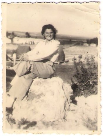 Shoshana Golan after World War II moved to Israel, where this photo was taken in 1953, the same year she met her husband, Micha, in the Israeli army. (Jewish Foundation for the Righteous)