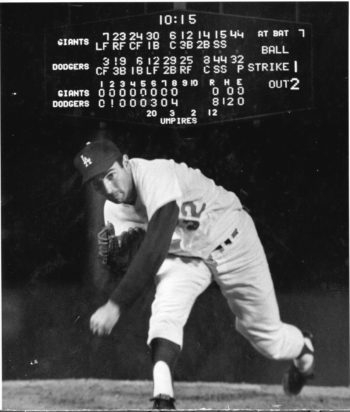 Sandy Koufax, the Brooklyn and Los Angeles Dodger who would not pitch a World Series game on Yom Kippur, is a member of the Baseball Hall of Fame in Cooperstown and now will join the National Museum of American Jewish History's Only in America Gallery/Hall of Fame in Philadelphia. (National Baseball Hall of Fame Library)