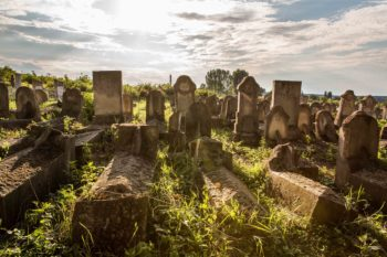 The Jewish cemetery in Soroca, a town in northern Moldova that once was home to some 18,000 Jews. Now about 100 remain and only 20 are halachically Jewish.  (Niv Shimshon/ Limmud FSU)