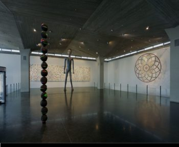 The renewed Upper Entrance Hall at the Israel Museum, featuring highlights from the contemporary art collection.  (Tim Hursley, courtesy of the Israel Museum, Jerusalem)