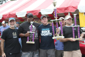 The 'Pickering Potchkers' won the grand prize and the ribs competition at the 23rd annual Kosher BBQ Contest and Festival in Memphis, Tenn. (Stuart Lazarov)