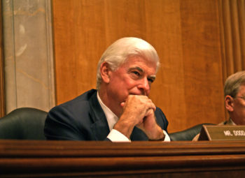 U.S. Sen. Chris Dodd, seen here in a July 29, 2009 photo chairing a Foreign Relations committee hearing, is examining proposals to broaden sanctions against Iran as the chairman of the U.S. Senate Banking Committee. (Office of Senator Chris Dodd)