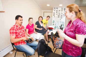 More than 25,000 Jews in the former Soviet Union are participating in aliyah preparation each year with The Jewish Agency, including career guidance and immersive Hebrew instruction.  (Courtesy The Jewish Agency)