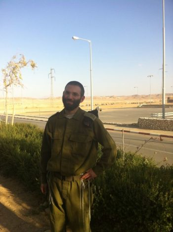 """Capt. Ze'ev Rosens, rabbi of the Israel Defense Forces Tank School in southern Israel, says the IDF ensures that """"every last soldier has everything he needs for seder night."""" (IDF Spokesperson)"""