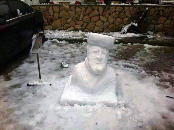 "Help Us Find the Makers of ""Snowvadia,"" the Chief Sephardic Rabbi Snowman"